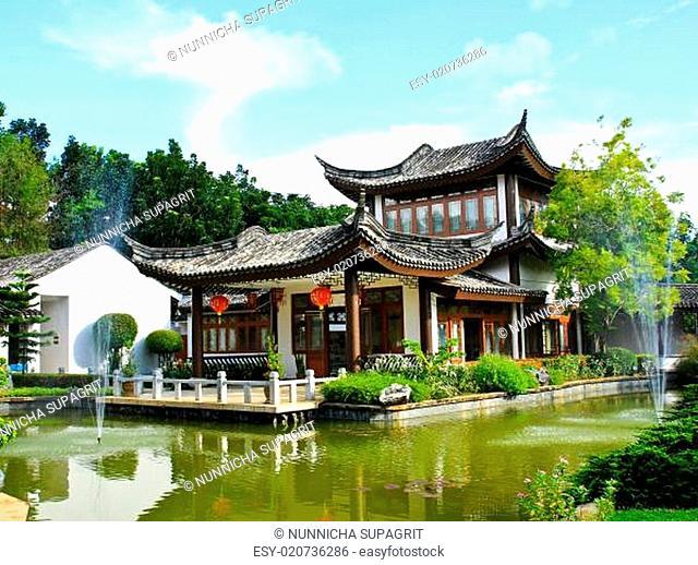 China Buddhist temple at Mae Fah Luang, University , Chiangrai, Thailand