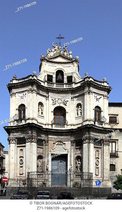 Italy, Sicily, Catania, S Placido Church,