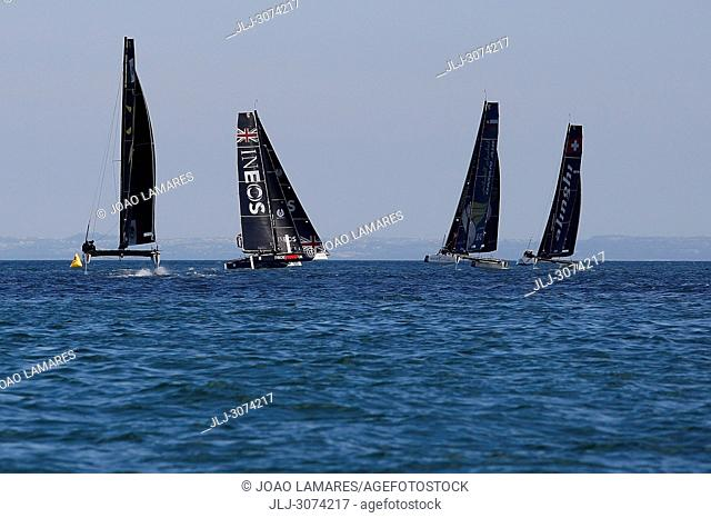 Sailing: Extremesailing round 4 at Baia de Cascais, Cascais, Portugal..Team Portugal, spectial guest for this round of Estremesailing Series
