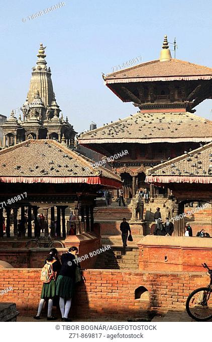 Nepal, Kathmandu Valley, Patan, Durbar Square