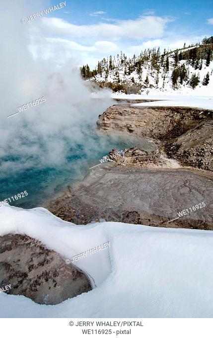 Excelsior Geyser, Midway Geyser Basin, Yellowstone NP, WY