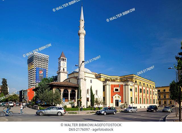 Albania, Tirana, Skanderbeg Square, Ethem Bey Mosque