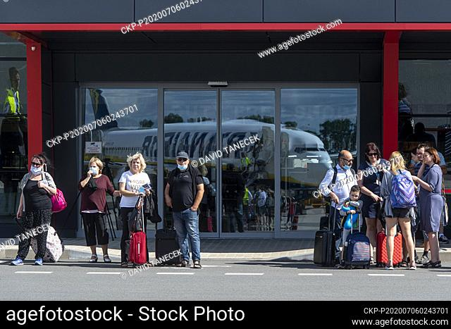 About one hundred people departed with Ryanair from Pardubice Airport in Czech Republic to Alicante in Spain, on July 6, 2020