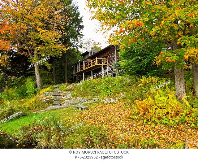 Country home on hillside