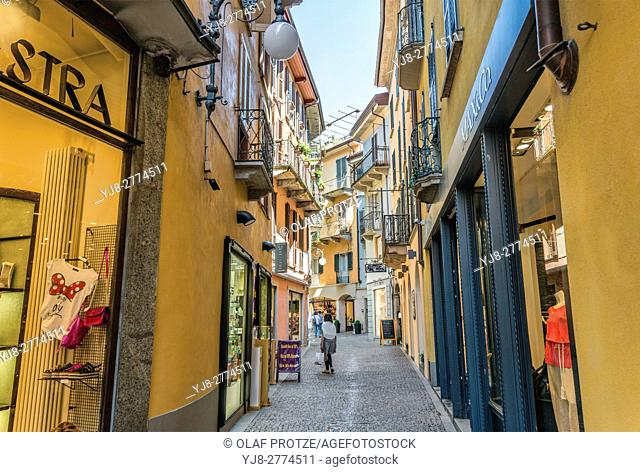 Old town of Intra at Lago Maggiore, Verbano, Italy