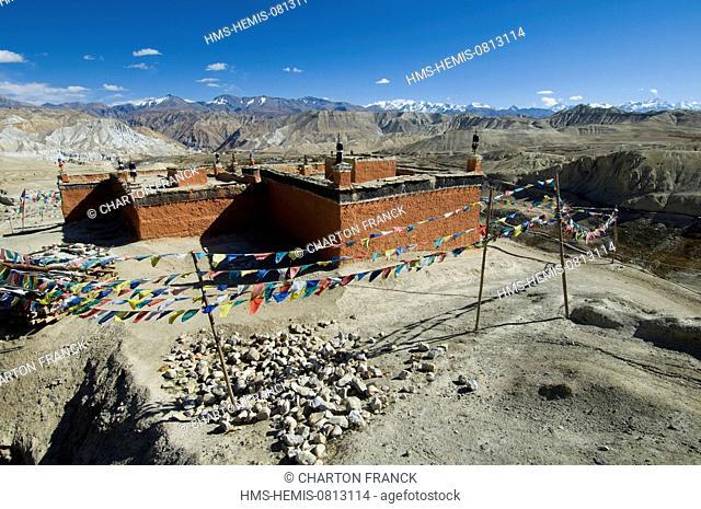 Nepal, Dhawalagiri Zone, Mustang District (former Kingdom of Lo), Tingkar, the Monastery