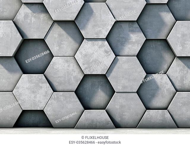 Abstract background of the concrete 3d render