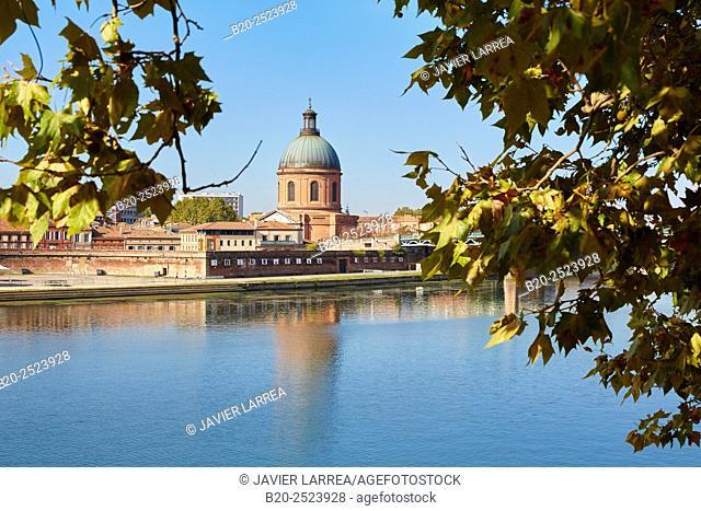 Hospital La Grave. Garonne river. Toulouse. Haute Garonne. France