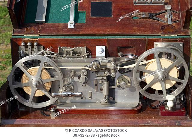 Italy, Lombardy, Flea Market, Old Telegraph, Ancient Technological Devices for Military . . .