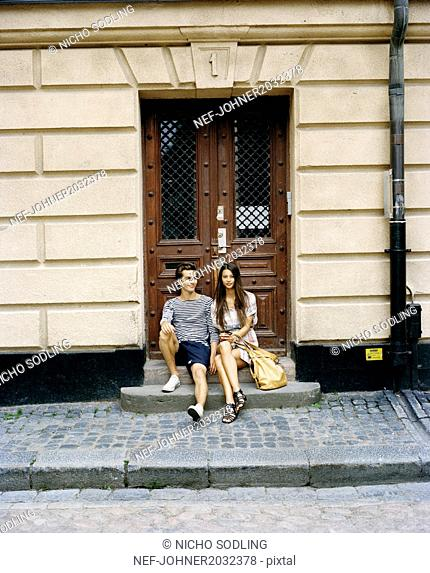 Young couple in Stockholm