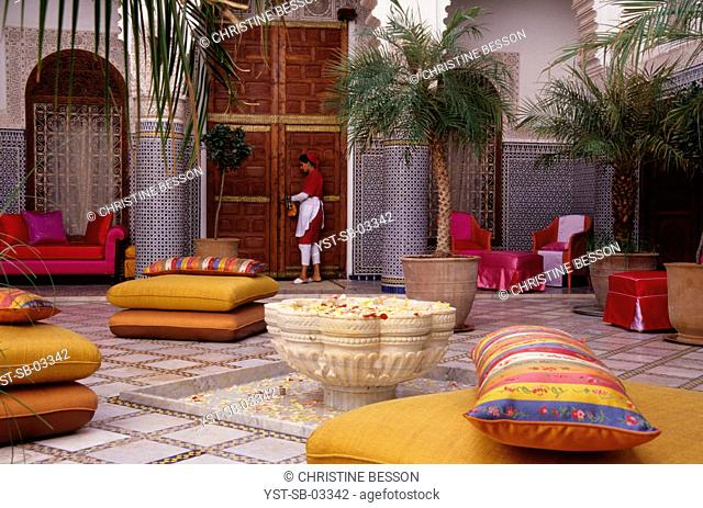 Guest house, hotel, house, Riad Enija, Red City, Marrakech, Morocco, Africa