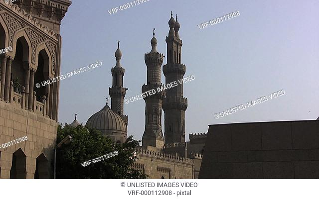 Egypt Cairo minarets of mosque