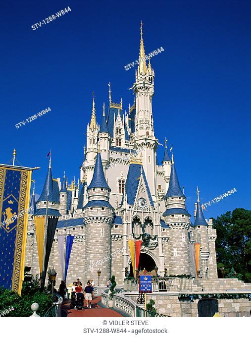 Castle, Cinderella, Disney, Florida, Holiday, Kingdom, Landmark, Magic, Orlando, Theme park, Tourism, Travel, Vacation, World