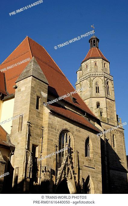 St.-Andreas-Kirche, Weißenburg in Bayern, Weißenburg-Gunzenhausen district, Middle Franconia, Bavaria, Germany / St.-Andreas-Kirche, Weißenburg in Bayern
