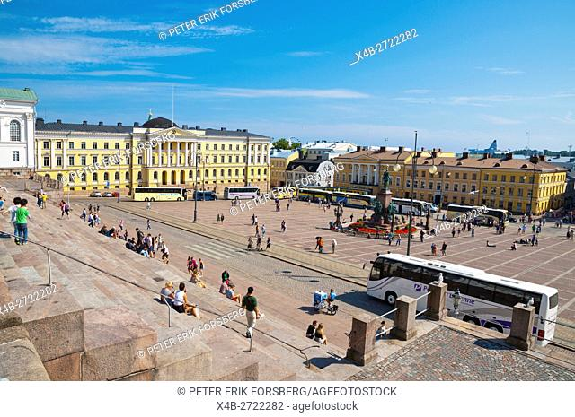 Senaatintori, Senate Square, elevated view, Helsinki, Finland