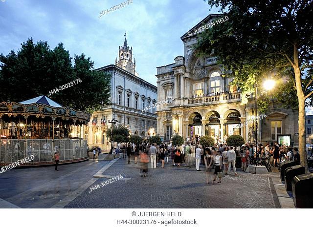 Hotel de Ville, Opera, Place de la Horloge, Avignon, Bouche du Rhone, France France, Provence, Avignon
