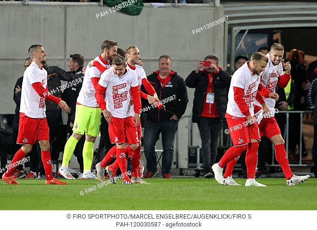 firo: 06.05.2019, Fuvuball, 2.Bundesliga, season 2018/2019, Greuther FvØrth - 1. FC Kv? ln, Lasse Sobiech, 1. FC Kv? ln, Kv? ln, Koeln, full figure, jubilation