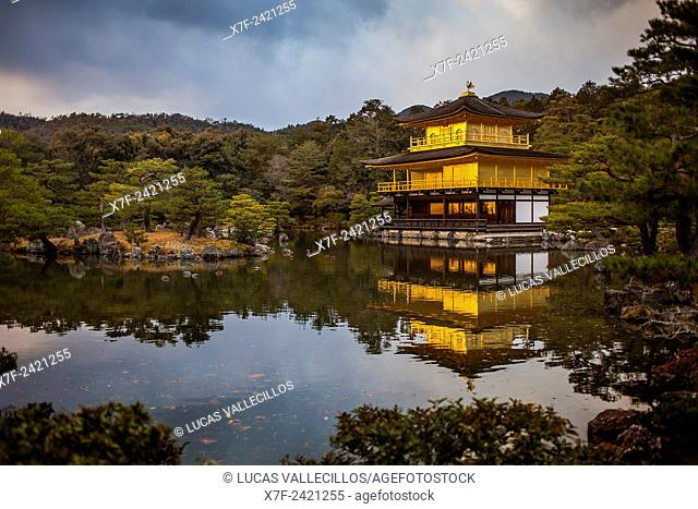 Kinkakuji temple,golden Pavilion,UNESCO World Heritage Site,Kyoto, Japan
