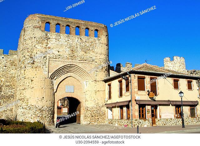Village door, in coca, Segovia province. Spain