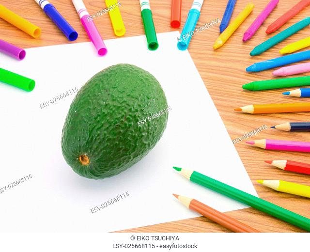 Looks like grawing fruits and vegetables on white background