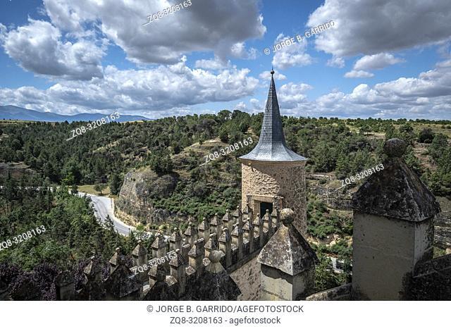 The Alcazar Castle In Segovia, Spain