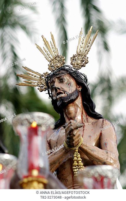 Jesus de las Penas (Jesus of sorrows), Cofradia de la Iglesia de San Mateo (San Mateo Church Brotherhood), Holy Tuesday. Jerez de la Frontera, Cadiz Province