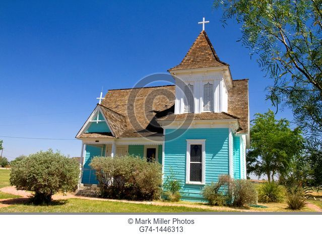 Saint Stephen's Episcopal Church at historic old Fort Stockton park, Texas, USA