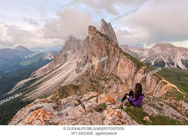 Forcella Pana, Val Gardena - Val di Funes, Bolzano, Trentino Alto Adige, South Tyrol, Italy, Europe