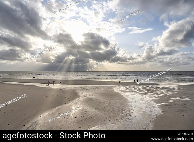 Beach, Sankt Peter-Ording, Schleswig-Holstein, Germany, Europe