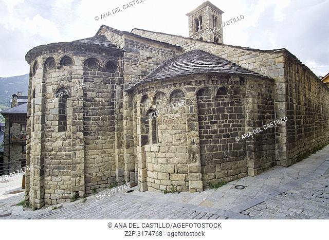 Santa Maria de Taull romanesque church in Taull village Boi valley Lleida Catalunya Spain