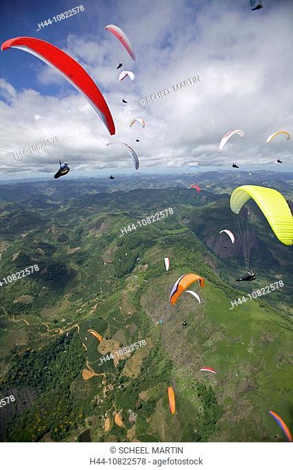 flying, paraglider, sports, Paragliding, Brazil, South America, Castelo, arrangement, meeting, meeting, mountains, fli