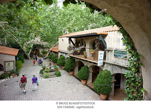 The courtyard inside of Tlaquepaque Arts and Crafts Village  Sedona  Arizona  USA