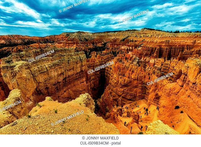Elevated view of sandstone rock formations, Bryce canyon, garfield County, Utah, USA