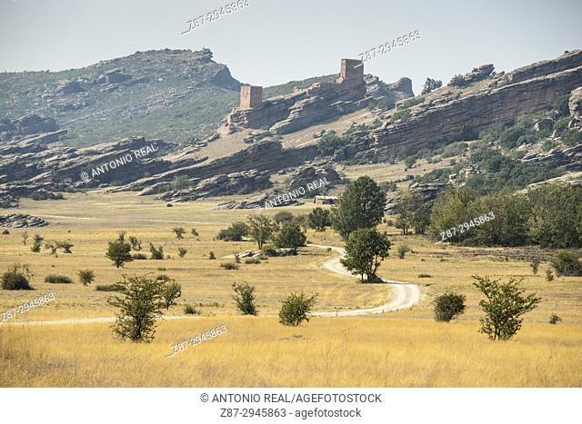 Zafra Castle (12th Century). Sierra de Cladereros. Campillo de Dueñas. Guadalajara province, Castile-La Mancha, Spain
