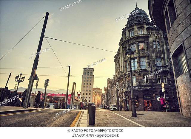 Bilbao city center. Biscay. Basque Country. Spain