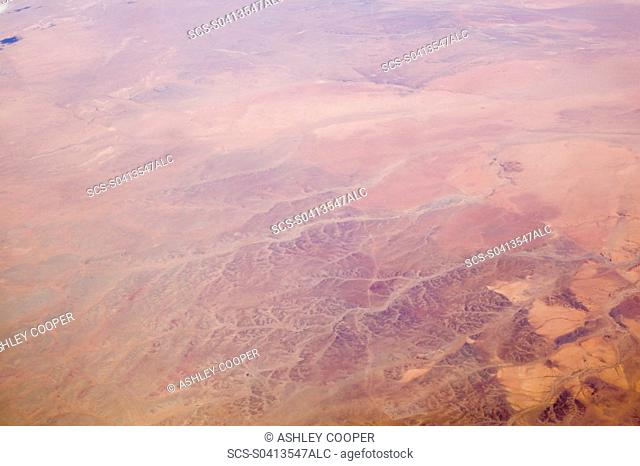 The Gobi desert from the air