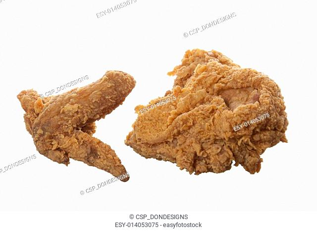 Fried Chicken Breast and Wing