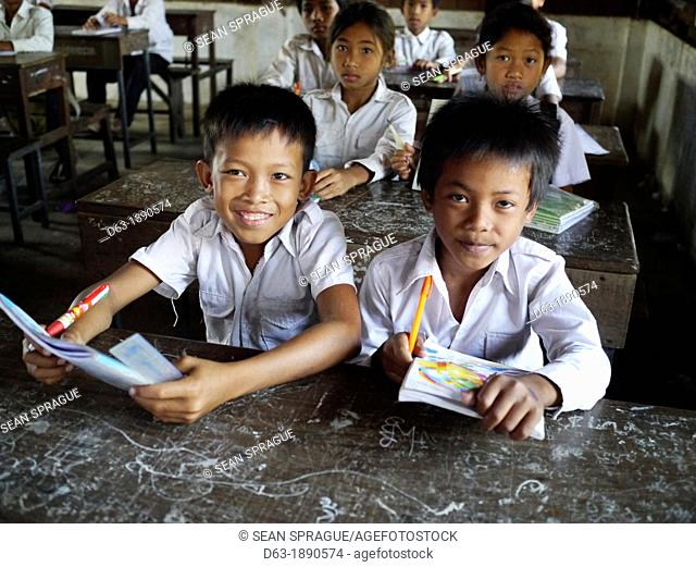 CAMBODIA. Projects of DPA in Stung Treng, supported by SCIAF. Kamphun primary school where several dozen children receive scholarships