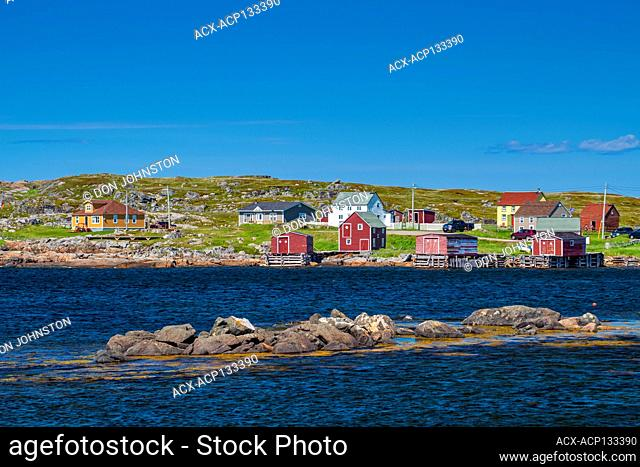 Houses and stages overlooking the harbour, Tilting, Newfoundland and Labrador NL, Canada