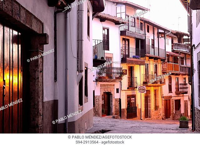Street of Candelario at nightfall, Salamanca, Spain
