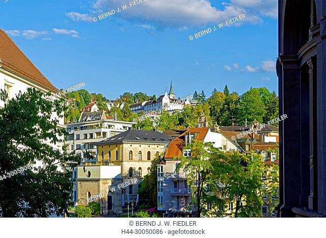 House fronts, local view, Baden-Baden Germany