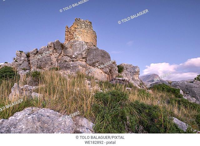 torre de na Seca, 1584 Bàlitx d'Avall, Fornalutx, Paraje natural de la Serra de Tramuntana, Mallorca, balearic islands, Spain