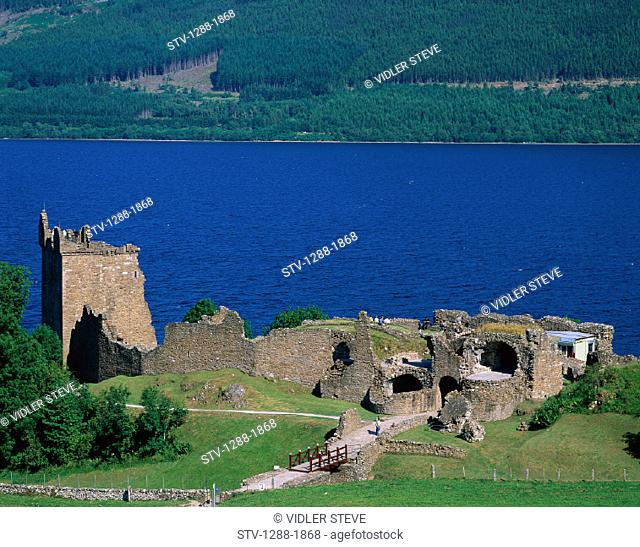 Castle, Holiday, Lake, Landmark, Loch, Ness, Ruins, Scotland, United Kingdom, Great Britain, Tourism, Travel, Urquhart, Vacation