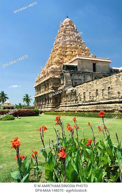 Gangaikonda Cholapuram ; capital of the Cholas ; temple of Shiva ; Tamil Nadu ; India