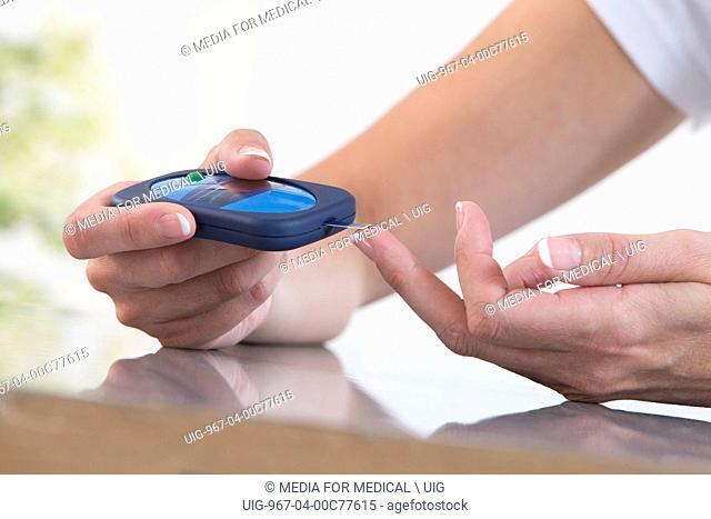 Diabetes test woman