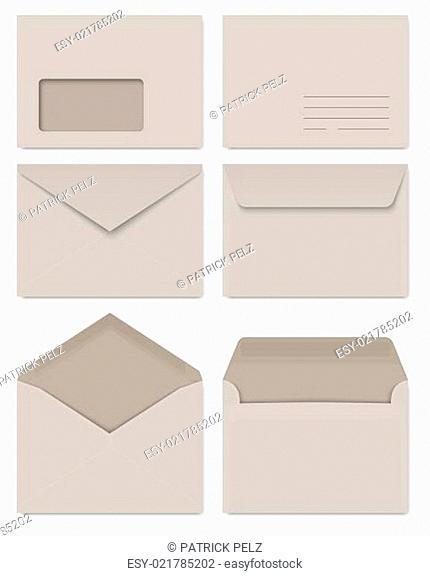 Sammlung - Briefumschläge grau