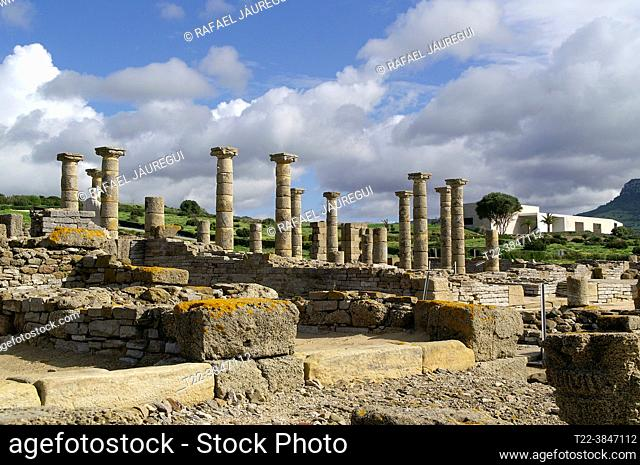 Tarifa (Cádiz) Spain. Archaeological environment of the Basilica of Baelo Claudia