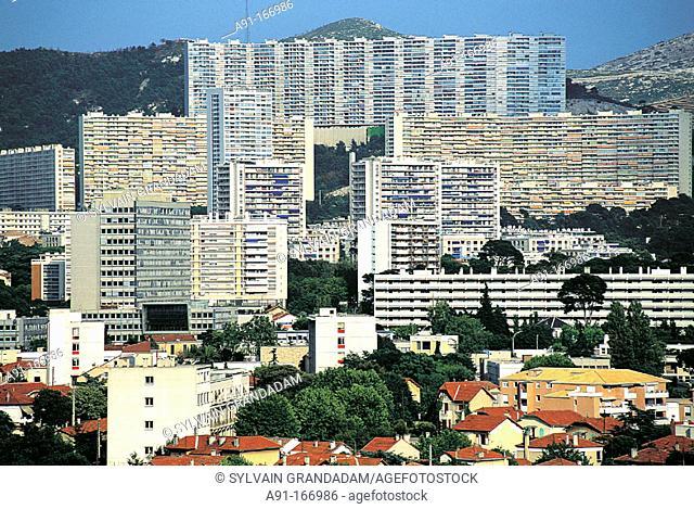 North suburbs. Marseille. France