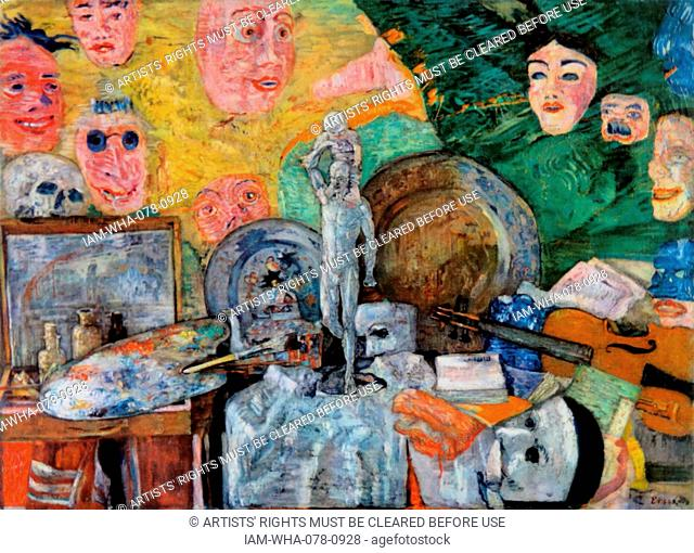 James Ensor 'Still Life in the Studio', 1889. James Sidney Ensor ( 1860 – 1949); Belgian painter and printmaker, Expressionist and Surrealist