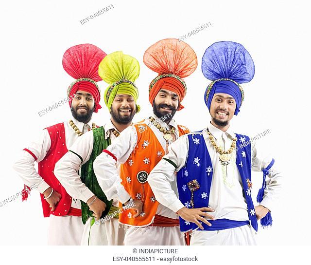 Sikh men posing